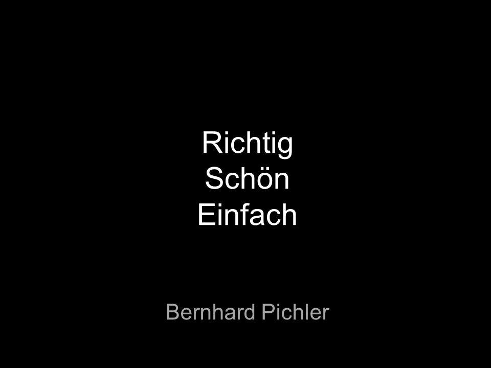 Richtig Schön Einfach Bernhard Pichler