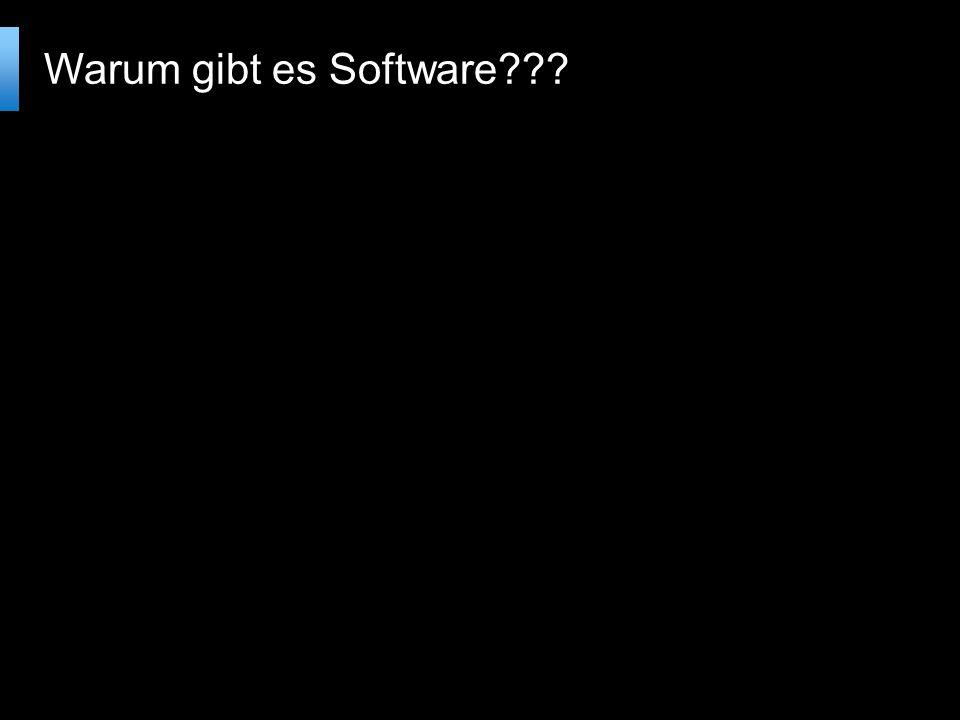 Warum gibt es Software