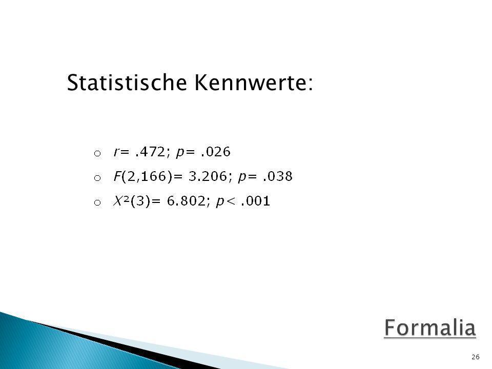 Statistische Kennwerte: 26