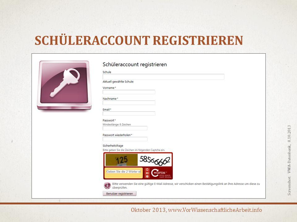 Oktober 2013, www.VorWissenschaftlicheArbeit.info DANKE FÜR DIE AUFMERKSAMKEIT!