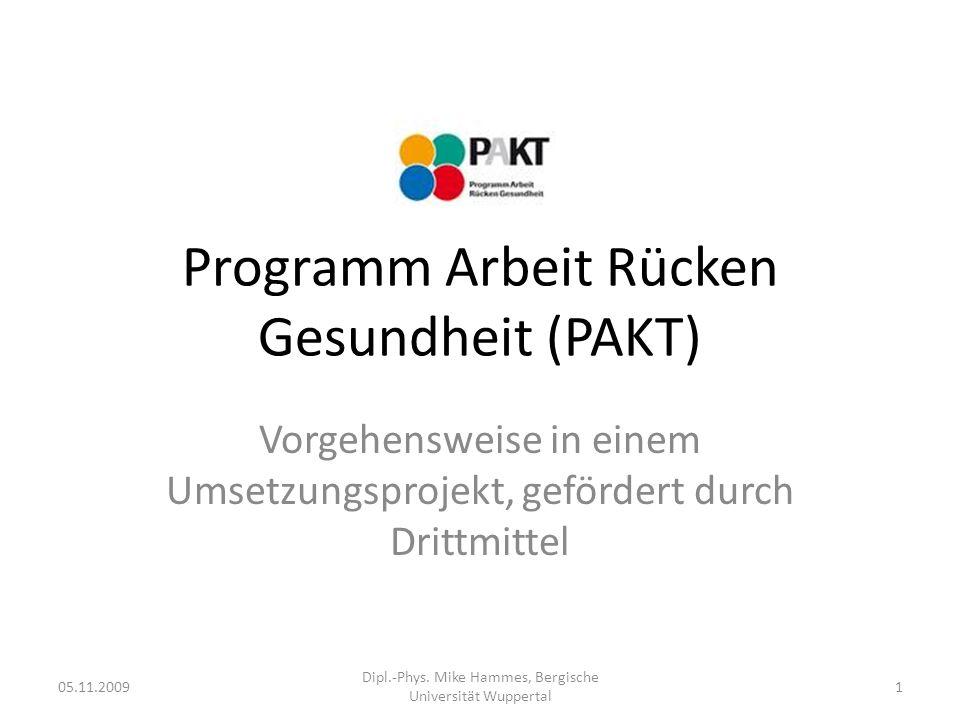 Gliederung PAKT als Verbundprojekt 1.Problemstellung 2.Hypothesen 3.Studiendesign 4.Datensammlung 5.Interpretation 6.Kommunikation 7.Metaanalyse …und weiter.