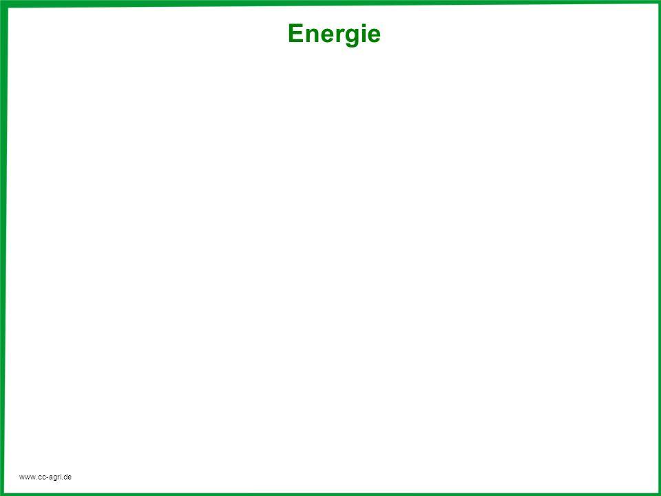 www.cc-agri.de Energie allgemein Die Energie ist eine fundamentale physikalische Größe.