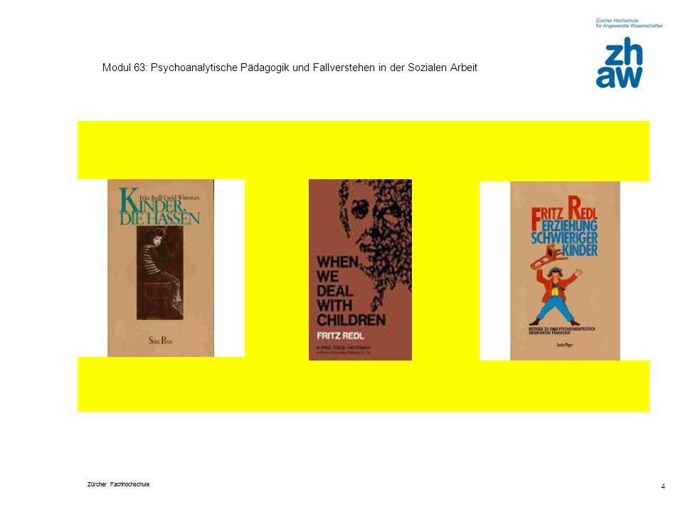 Zürcher Fachhochschule 4 Modul 63: Psychoanalytische Pädagogik und Fallverstehen in der Sozialen Arbeit