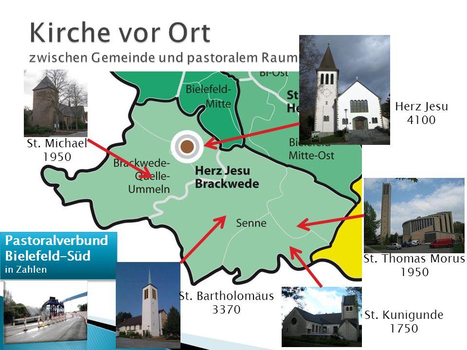 Pastoralverbund Bielefeld-Süd in Zahlen Pastoralverbund Bielefeld-Süd in Zahlen Herz Jesu 4100 St.