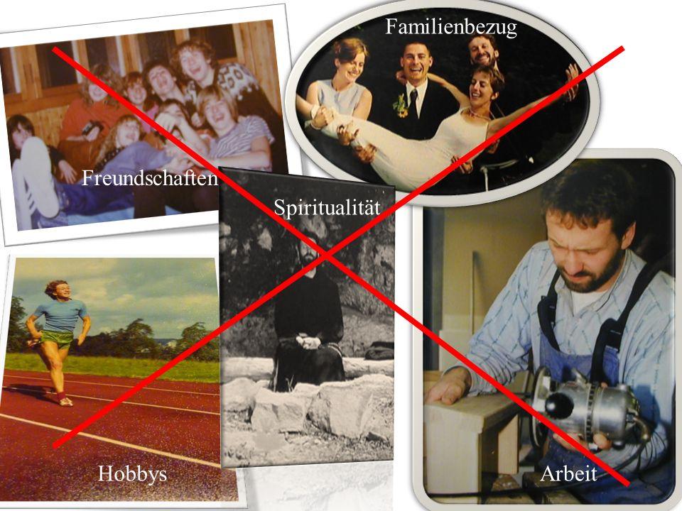 g Hobbys Arbeit Hobbys Familienbezug Freundschaften Spiritualität Arbeit