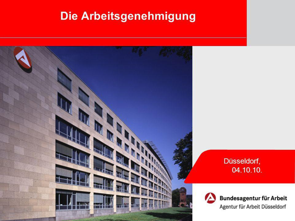 Die Arbeitsgenehmigung Düsseldorf, 04.10.10.