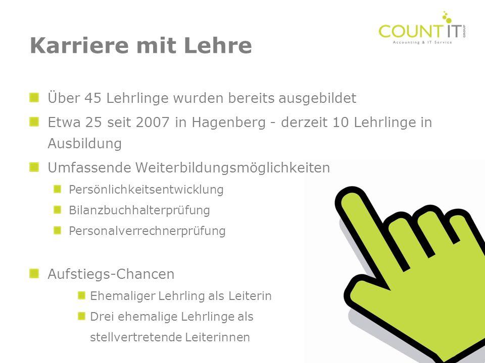 Über 45 Lehrlinge wurden bereits ausgebildet Etwa 25 seit 2007 in Hagenberg - derzeit 10 Lehrlinge in Ausbildung Umfassende Weiterbildungsmöglichkeite