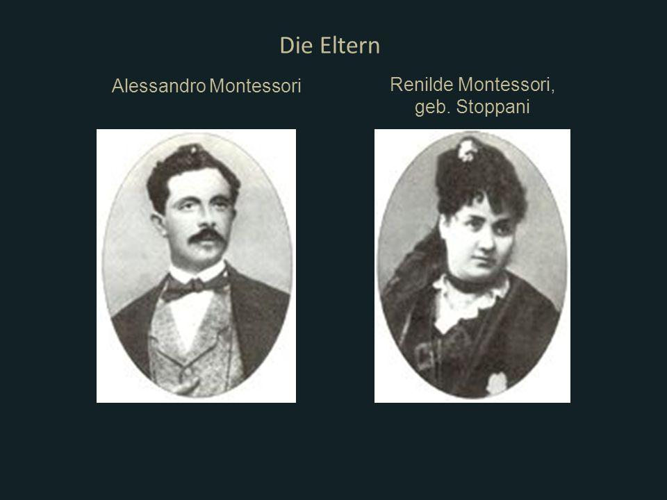 Alessandro Montessori Die Eltern Renilde Montessori, geb. Stoppani