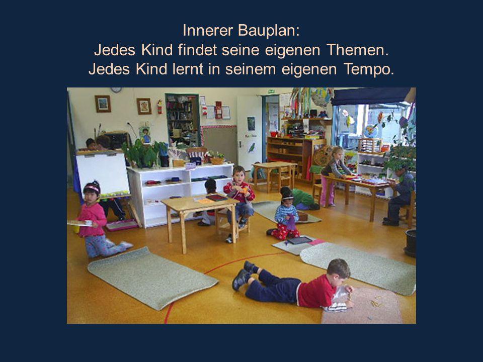 Innerer Bauplan: Jedes Kind findet seine eigenen Themen. Jedes Kind lernt in seinem eigenen Tempo.