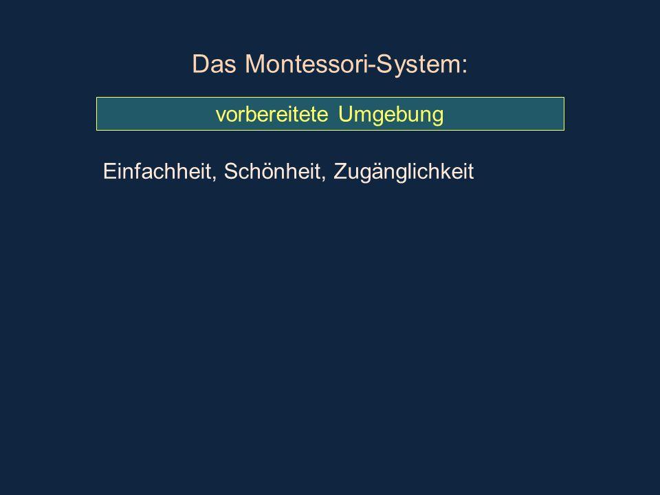 Das Montessori-System: vorbereitete Umgebung Einfachheit, Schönheit, Zugänglichkeit