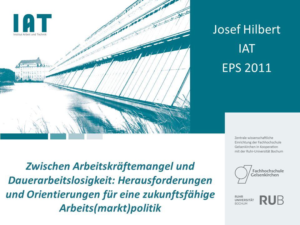Zwischen Arbeitskräftemangel und Dauerarbeitslosigkeit: Herausforderungen und Orientierungen für eine zukunftsfähige Arbeits(markt)politik Josef Hilbe