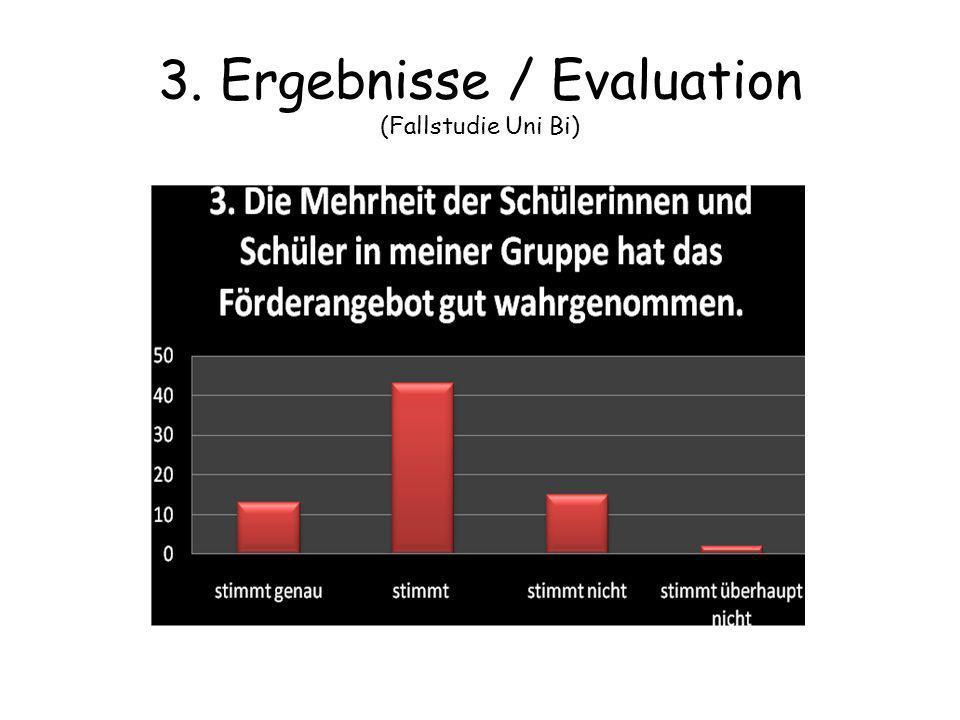 3. Ergebnisse / Evaluation (Fallstudie Uni Bi)