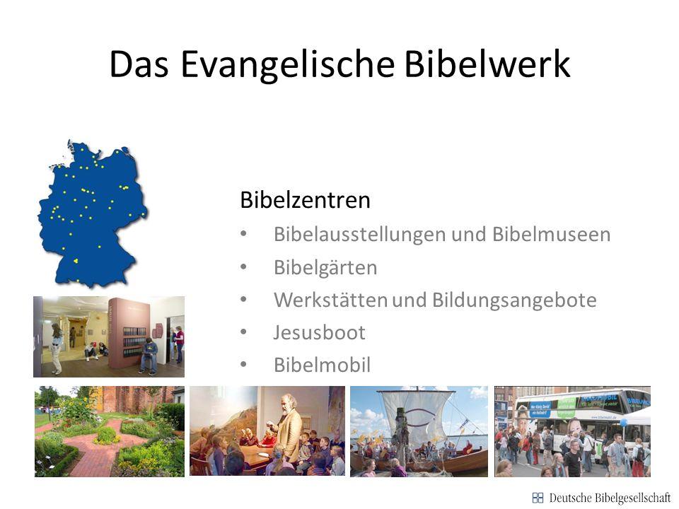 Das Evangelische Bibelwerk Bibelmuseum Werkstattrunde Jesusboot Bibelmobil Bibelzentren Bibelausstellungen und Bibelmuseen Bibelgärten Werkstätten und