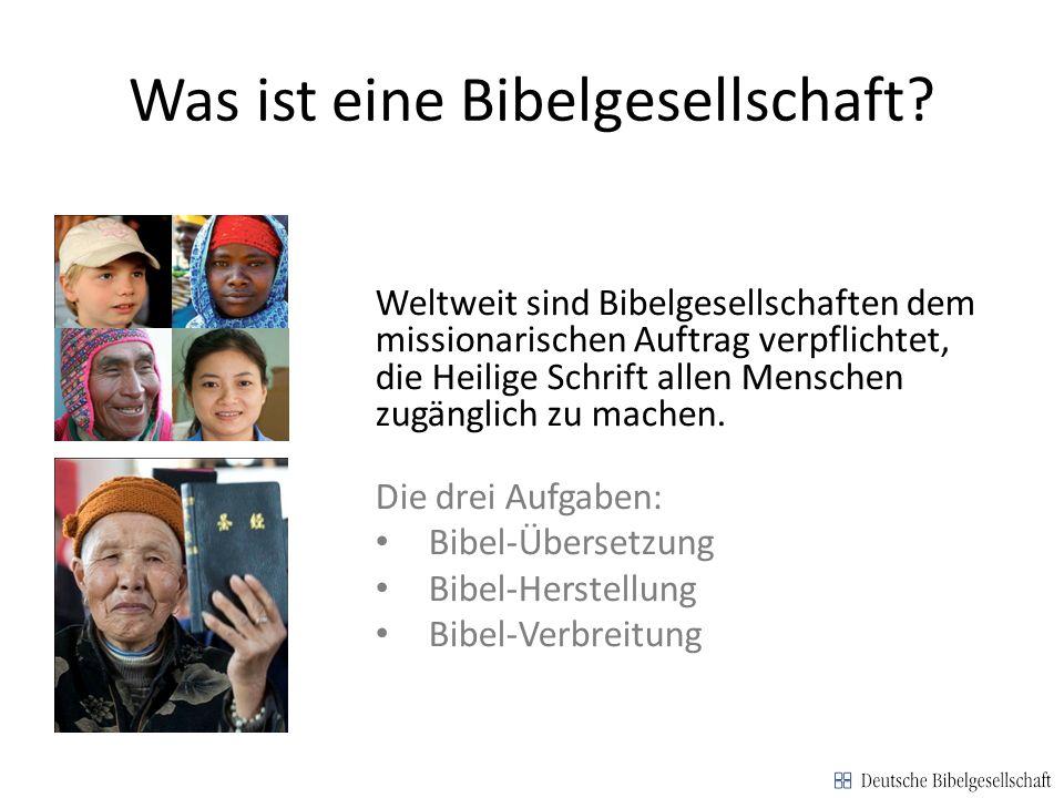 Was ist die Deutsche Bibelgesellschaft.