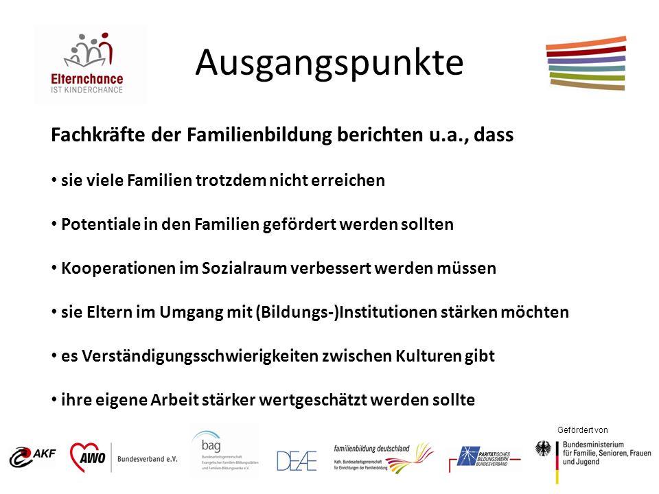 Gefördert von Ausgangspunkte Fachkräfte der Familienbildung berichten u.a., dass sie viele Familien trotzdem nicht erreichen Potentiale in den Familie