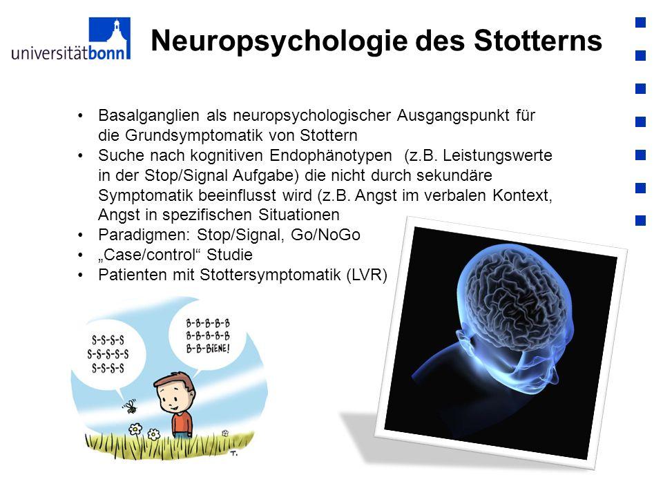 Neuropsychologie des Stotterns Basalganglien als neuropsychologischer Ausgangspunkt für die Grundsymptomatik von Stottern Suche nach kognitiven Endoph