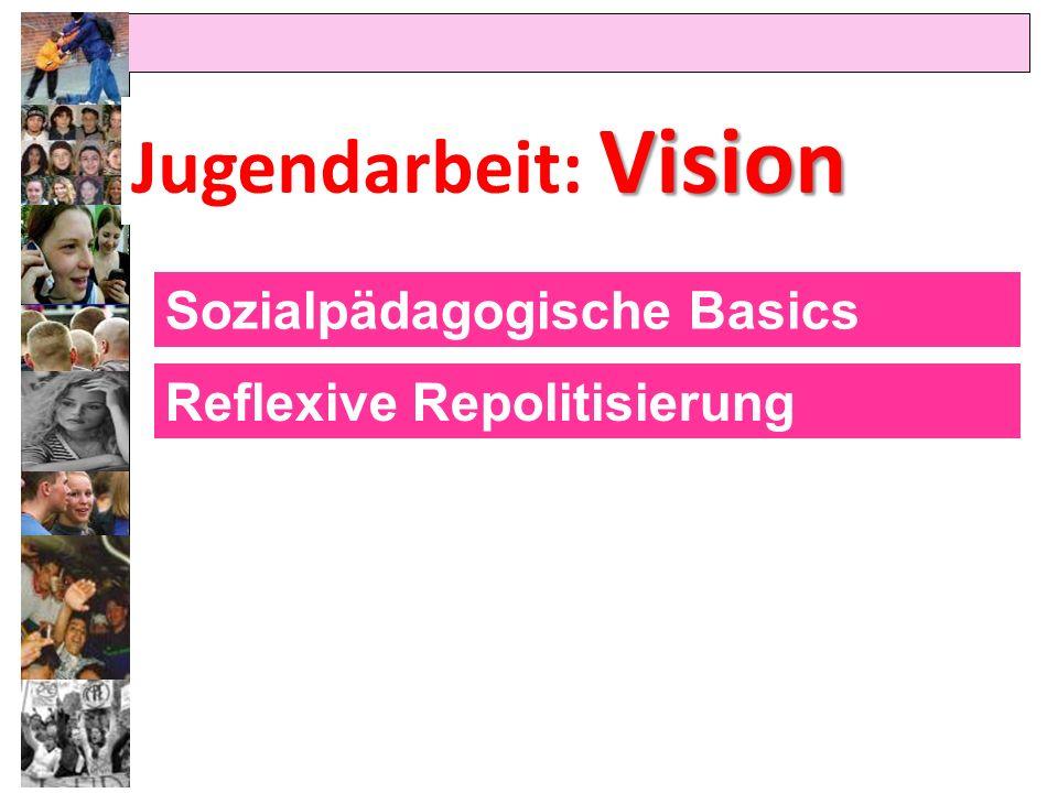 Vision Jugendarbeit: Vision Sozialpädagogische Basics Reflexive Repolitisierung