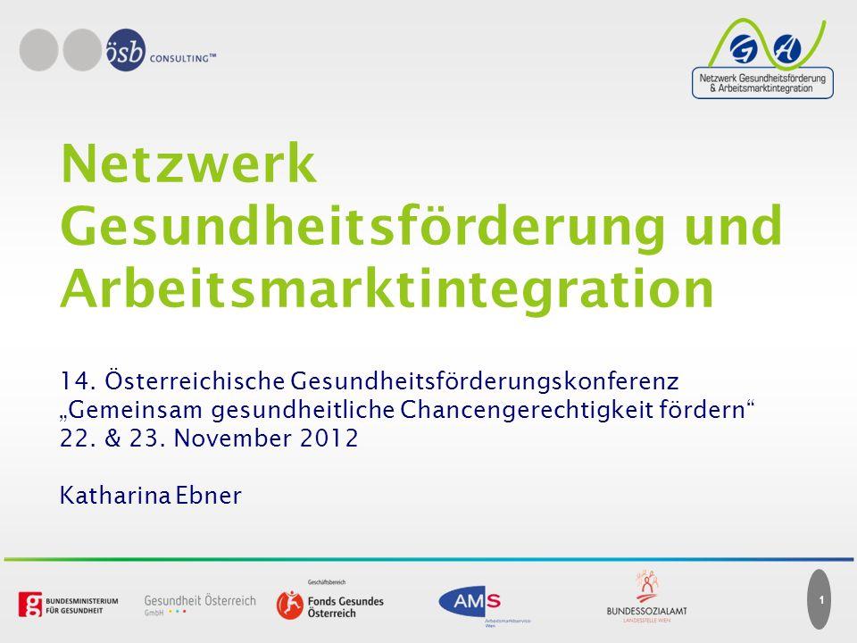 1 Netzwerk Gesundheitsförderung und Arbeitsmarktintegration 14.