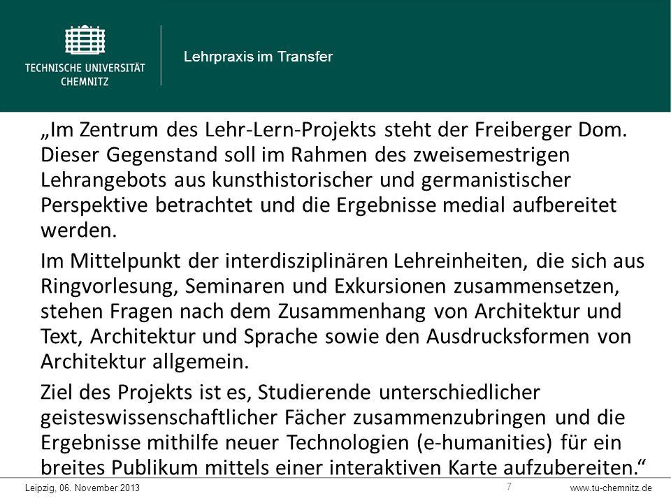 Im Zentrum des Lehr-Lern-Projekts steht der Freiberger Dom.