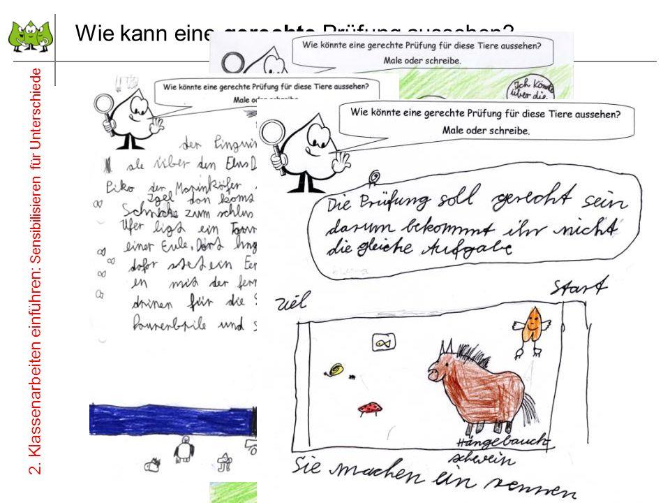 Wie kann eine gerechte Prüfung aussehen? 12 Juli 2012 © PIK AS (http://www.pikas.uni-dortmund.de/) 2. Klassenarbeiten einführen: Sensibilisieren für U