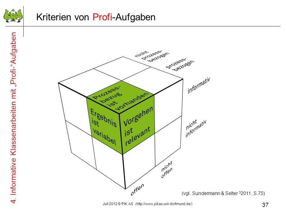 (vgl. Sundermann & Selter 2 2008, S.74 - 106) März 2011 © PIK AS (http://www.pikas.uni-dortmund.de/ ) (vgl. Sundermann & Selter 3 2011, S.75) Kriterie
