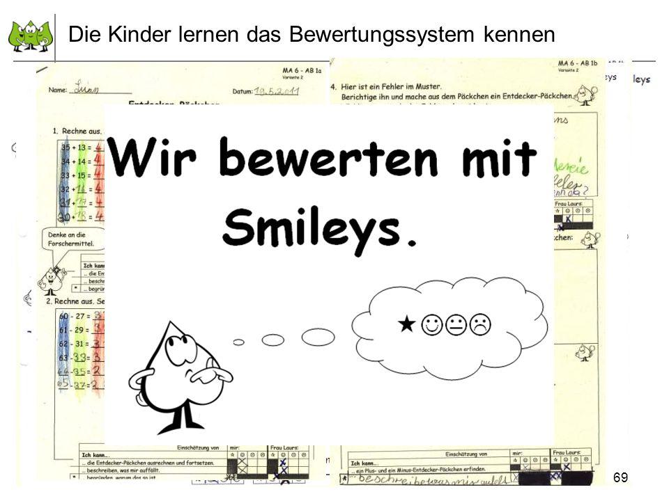 Juli 2012 © PIK AS (http://www.pikas.uni-dortmund.de/) 6. Transparenz: Kinder einbeziehen Die Kinder lernen das Bewertungssystem kennen 69