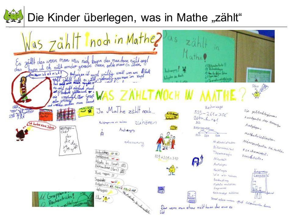 72 Juli 2012 © PIK AS (http://www.pikas.uni-dortmund.de/) 6. Transparenz: Kinder einbeziehen Die Kinder überlegen, was in Mathe zählt