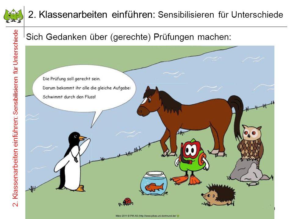 9 2. Klassenarbeiten einführen: Sensibilisieren für Unterschiede Juli 2012 © PIK AS (http://www.pikas.uni-dortmund.de/) Sich Gedanken über (gerechte)