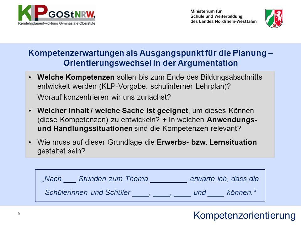 10 Lehrpläne (vor 2004): Inputsteuerung, Stoff-u.