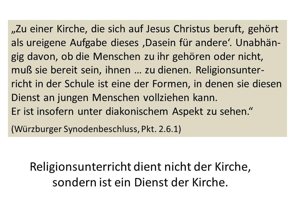 Zu einer Kirche, die sich auf Jesus Christus beruft, gehört als ureigene Aufgabe dieses Dasein für andere. Unabhän- gig davon, ob die Menschen zu ihr