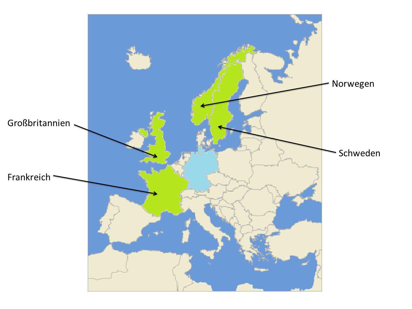 Norwegen Schweden Großbritannien Frankreich
