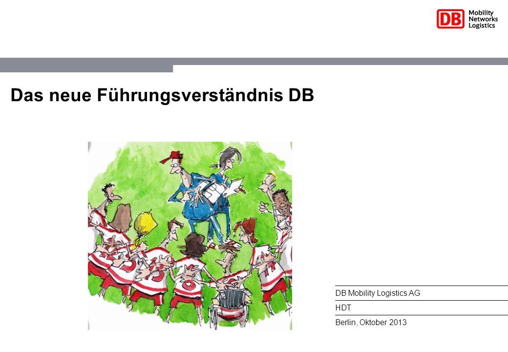 DB Mobility Logistics AG HDT Berlin, Oktober 2013 Das neue Führungsverständnis DB