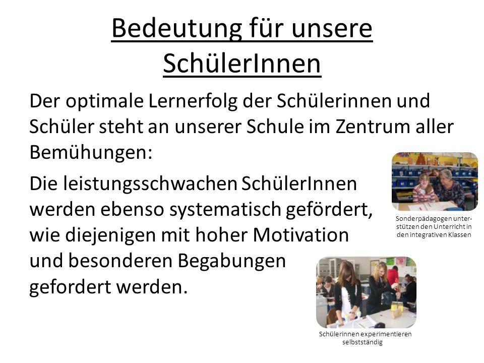 Arbeit im Schulgarten QB 3: Schulkultur Mittagspause im Spieleraum Spielgeräte auf dem Schulhof Kooperation und Berufsberatung