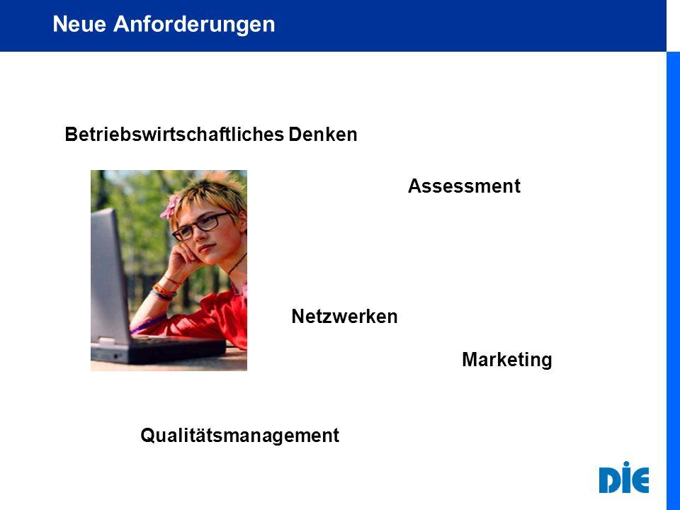 Neue Anforderungen Betriebswirtschaftliches Denken Assessment Qualitätsmanagement Netzwerken Marketing