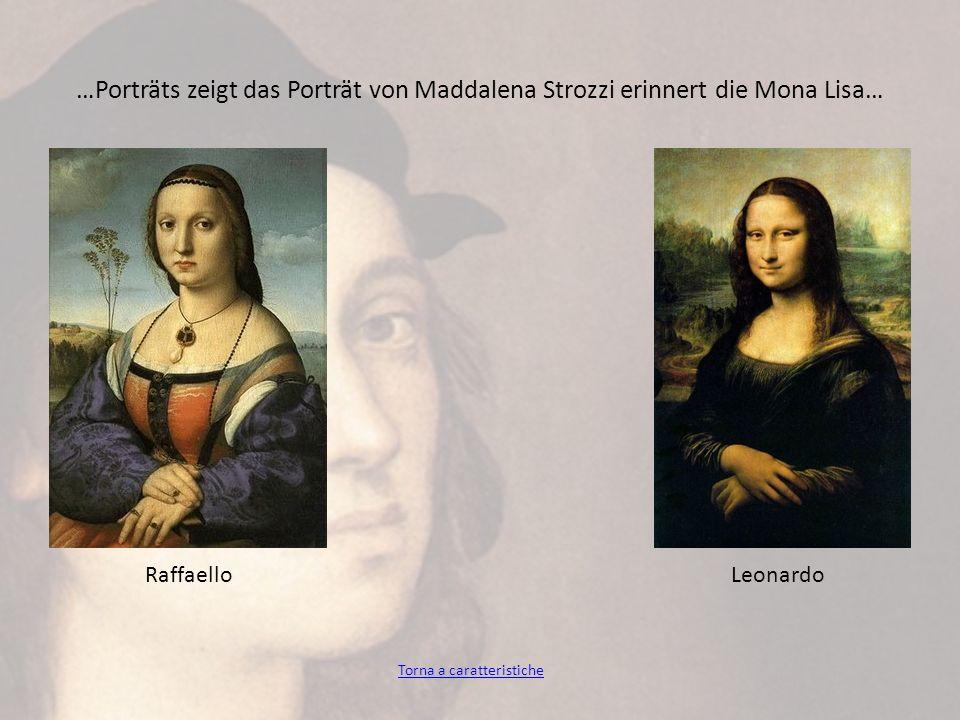 …Porträts zeigt das Porträt von Maddalena Strozzi erinnert die Mona Lisa… RaffaelloLeonardo Torna a caratteristiche