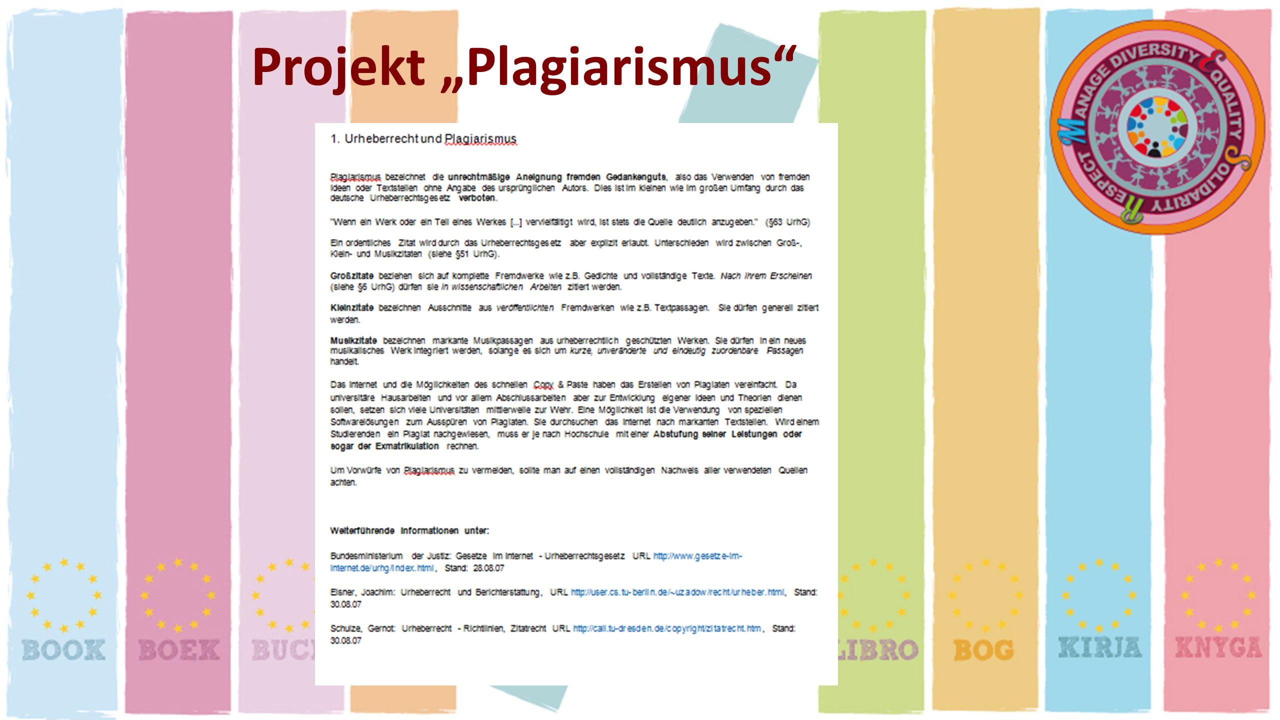 Projekt Plagiarismus