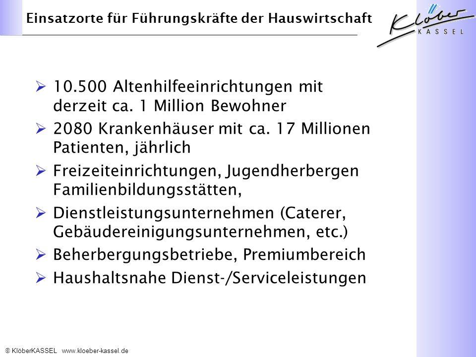 KlöberKASSEL www.kloeber-kassel.de 10.500 Altenhilfeeinrichtungen mit derzeit ca.