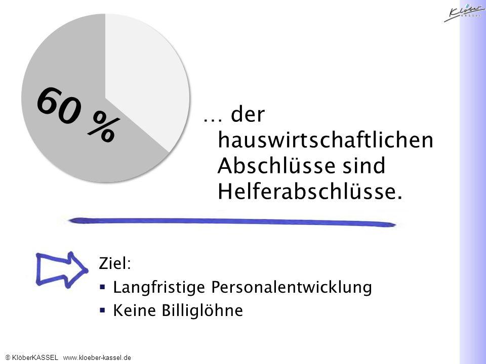 KlöberKASSEL www.kloeber-kassel.de … der hauswirtschaftlichen Abschlüsse sind Helferabschlüsse.