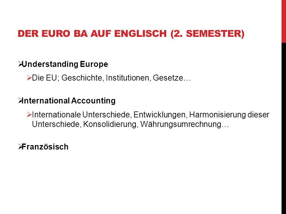 Understanding Europe Die EU; Geschichte, Institutionen, Gesetze… International Accounting Internationale Unterschiede, Entwicklungen, Harmonisierung d