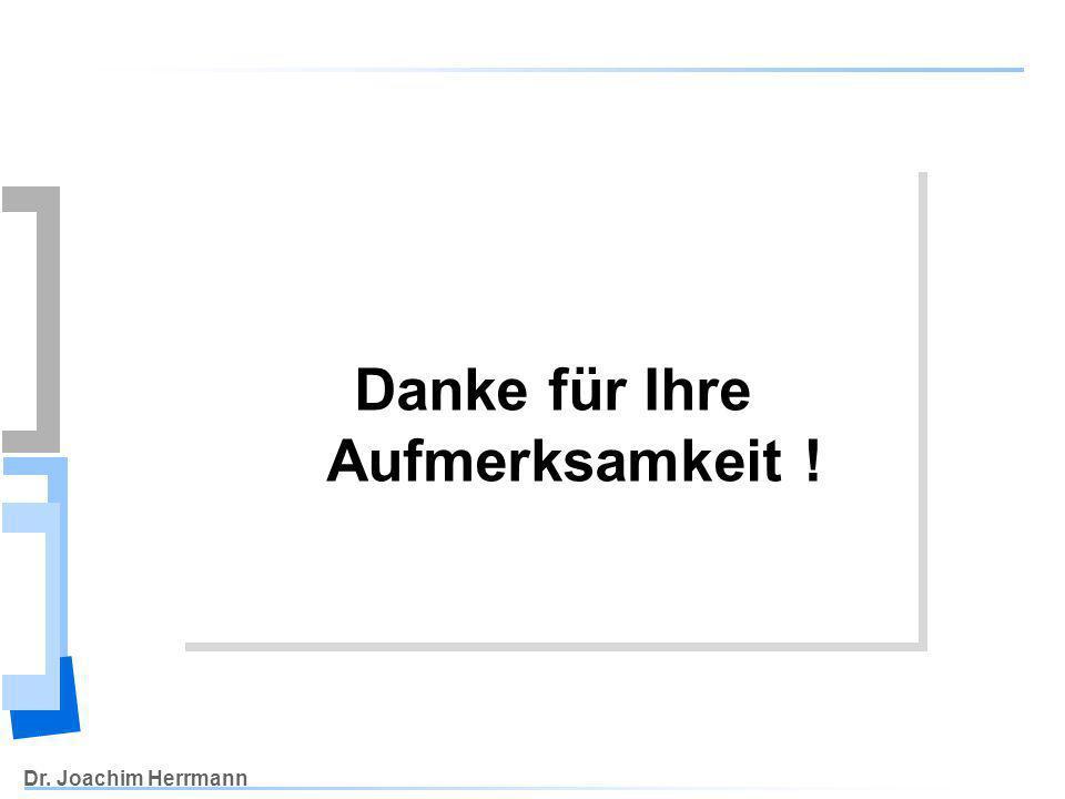 Dr. Joachim Herrmann Danke für Ihre Aufmerksamkeit !