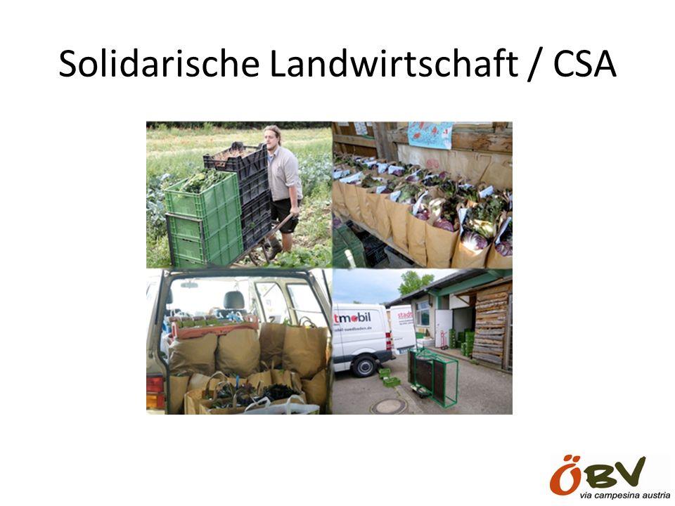 Solidarische Landwirtschaft / CSA