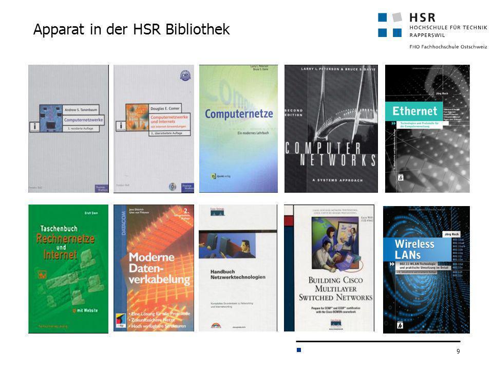 9 Apparat in der HSR Bibliothek