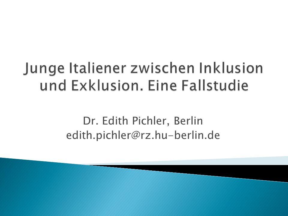 Dr. Edith Pichler, Berlin edith.pichler@rz.hu-berlin.de