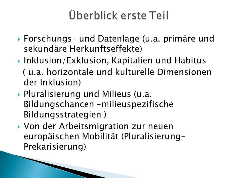 Forschungs- und Datenlage (u.a.