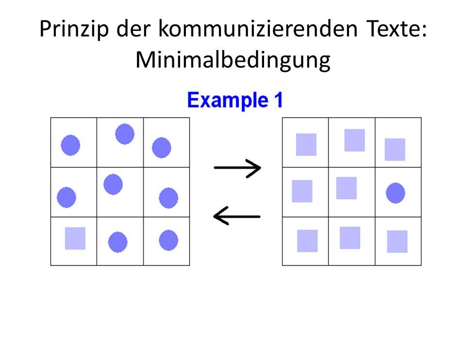 Prinzip der kommunizierenden Texte: Minimalbedingung