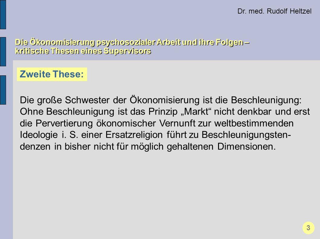 Dr. med. Rudolf Heltzel Die Ökonomisierung psychosozialer Arbeit und ihre Folgen – kritische Thesen eines Supervisors Zweite These: Die große Schweste