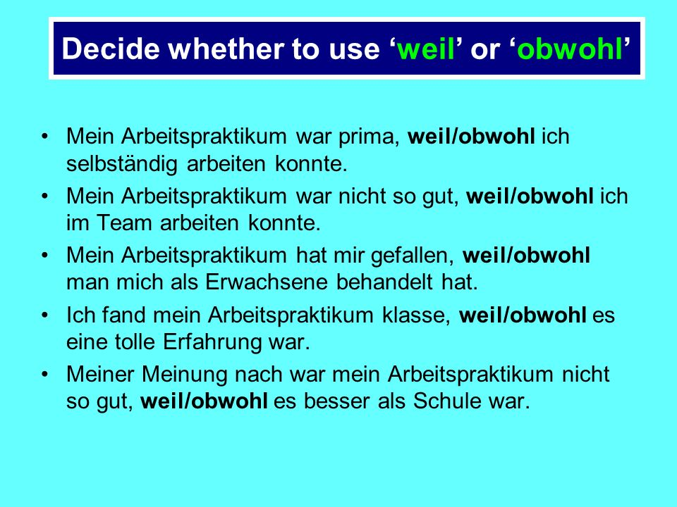 What happened there? The conjunction obwohl behaves just like the conjunction weil - the conjugated verb (habe) runs to the END of the SENTENCE!!!!!!!
