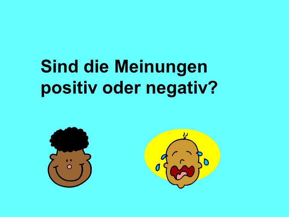 Expressing an opinion in another way Das Beste am Arbeitspraktikum war/ waren...