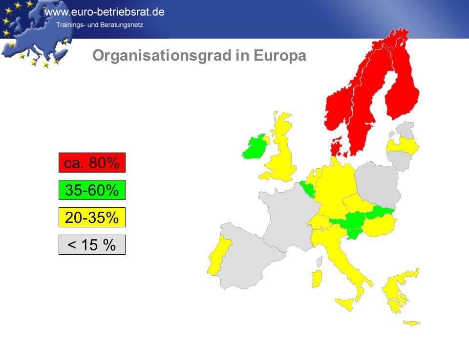 www.euro-betriebsrat.de Probleme der EBR-Arbeit Spartenvertretung Keine Gesamt- oder Konzernbetriebsräte in einigen Ländern (GB, B, E, I) Interkulturelle Verständigungsprobleme