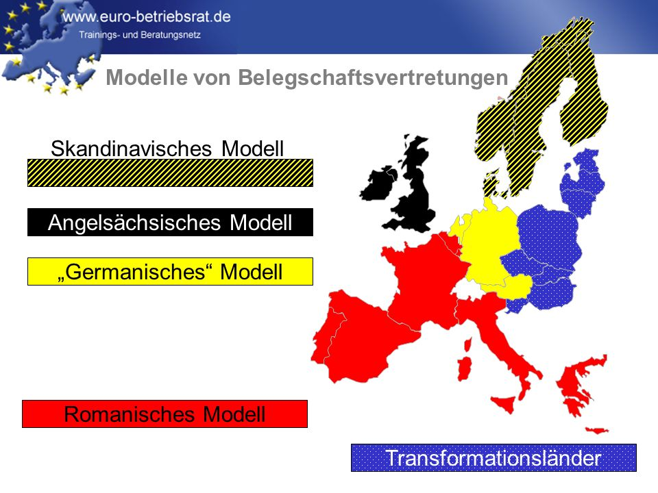 www.euro-betriebsrat.de Germanisches Modell BR OR Ondernemingsraad (OR) Betriebsrat (BR)